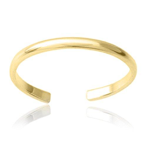 RS Jewels 14 K Gelb Vergoldet Pure 925 Sterling Silber verstellbar  Handarbeit Uni Band Zehenring