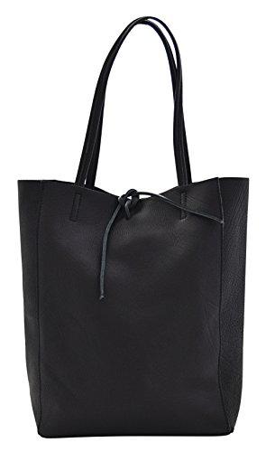 Boteghe - Real Made in Italy AMBRA Sac porté Épaule Femme Shopper Porté Main Vrai Cuir Fabriqué en Italie Artisanale