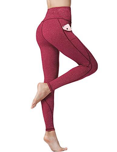 BELAROI Leggings Damen Sport Yoga Hose Sporthose Fitnesshose Damen Laufhose mit Tasche Quick Dry Hohe Taille Leggings Lang (Verpackung/MEHRWEG)