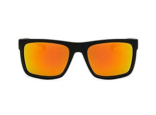 WSKPE Sonnenbrille,Frauen Polarisierte Sonnenbrillen Men Square Night Vision Fahren Brille Schutzbrille Uv400 Schwarzen Rahmen Orange Linse