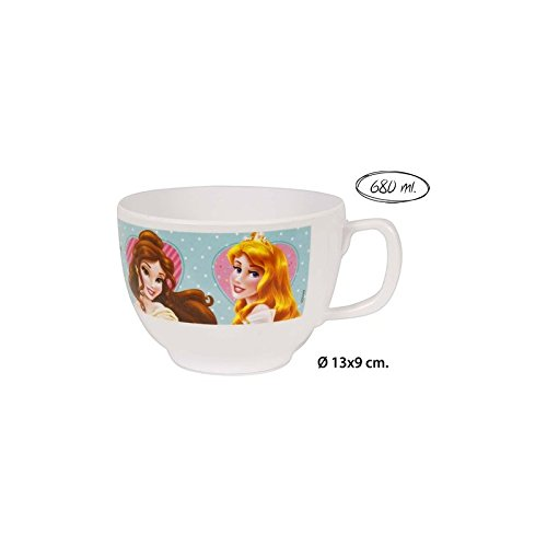 Disney - Taza jumbo melamina, , -princess-, 680ml.