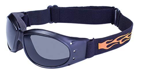 Global Vision Eyewear Eliminator Flame Schutzbrille mit Mikrofaser-Beutel, Rauch Tönung