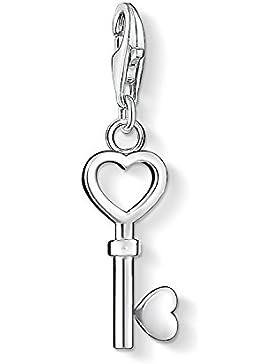 Thomas Sabo Damen-Charm-Anhänger Schlüssel Herz Charm Club 925 Sterling Silber 0888-001-12
