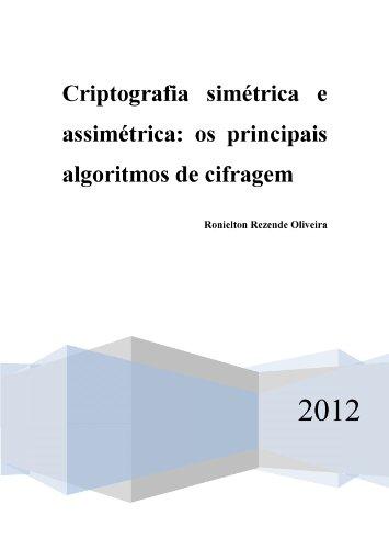 Criptografia simétrica e assimétrica - os principais algoritmos de cifragem (Portuguese Edition)