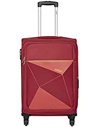 Safari Prisma 65 Cms Polyester Red Check-In 4 wheels Soft Suitcase