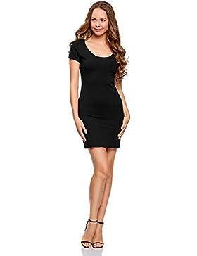 oodji Ultra Damen Enges Jersey-Kleid
