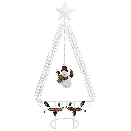 50cm Kartenhalter Clip Halter Memo Clip Kartenhalter Ständer Christmas Wire Tree mit Star Top Xmas hält 50 Karten, Weiß -