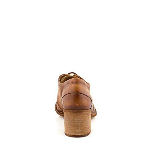 Felmini - Scarpe Donna - Innamorarsi com Tau A109 - Scarpe Derby - Pelle Genuina - Marrone Marrone