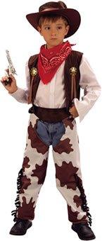 Costume da cowboy del Far West per bambino età 10-13