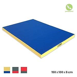 NiroSport Turnmatte 150 x 100 x 8 cm Gymnastikmatte Fitnessmatte Sportmatte...