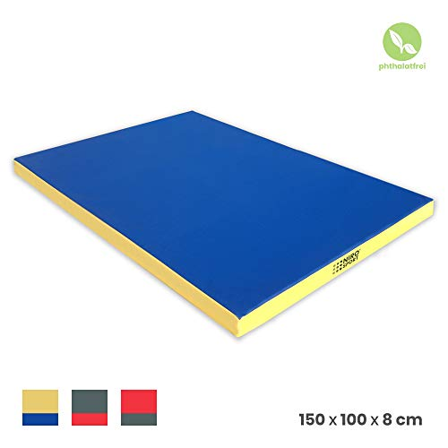 NiroSport Turnmatte 150 x 100 x 8 cm Gymnastikmatte Fitnessmatte Sportmatte Trainingsmatte Weichbodenmatte wasserdicht