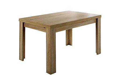 Avanti trendstore - merlox - tavolo per sala da pranzo o cucina, allungabile a 176 cm, in laminato di quercia ruvida, dimensioni: lap 120/176x78x80 cm