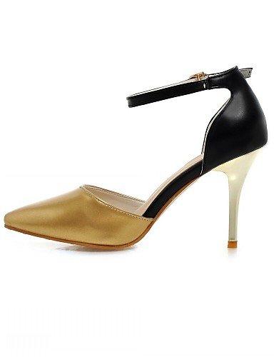 WSS 2016 Chaussures Femme-Bureau & Travail / Habillé / Décontracté-Argent / Or-Talon Aiguille-Talons-Talons-Similicuir silver-us4-4.5 / eu34 / uk2-2.5 / cn33