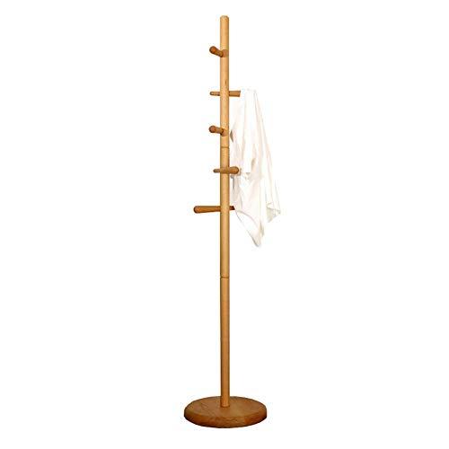 Garderobenständer Garderobenständer Kleiderständer Hutständer Baumständer Holz Haken Schlafzimmer Büro Flur Garage Freistehendes Holz 178 × 36 cm (Color : B)