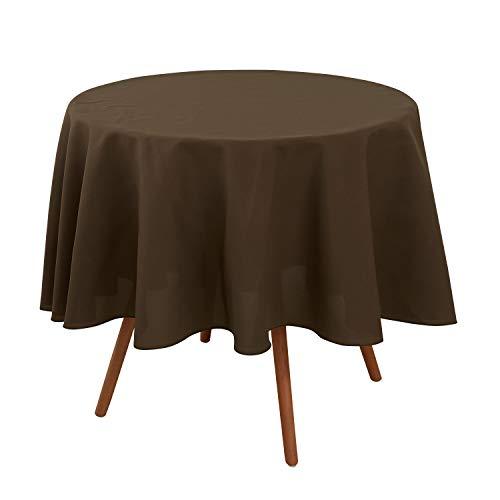 Deconovo tovaglia tavolo rotonda antimacchia da 180 per cucina marrone scuro