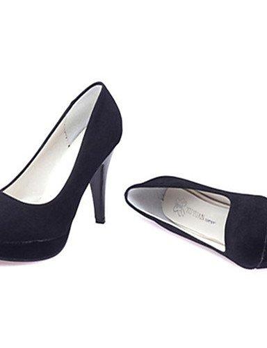GS~LY Damen-High Heels-Lässig-Vlies-Stöckelabsatz-Absätze-Schwarz / Fuchsie black-us6 / eu36 / uk4 / cn36