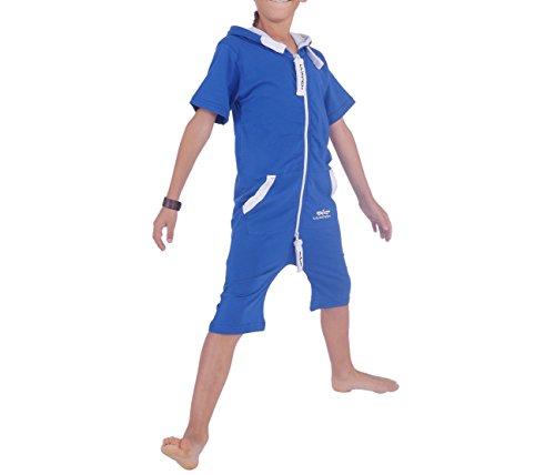 r Overall Sommerjumpsuit Jungen Mädchen Blau Gr 110-116 (Mädchen Army Kostüme)