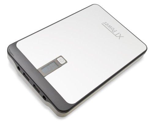XTPower® MP-32000 Powerbank - mobiler externer hochleistungs USB und DC Akku mit 32000mAh - 2 USB bis 2.1A und DC 9V/12V/16V/19V/20V 4,5A