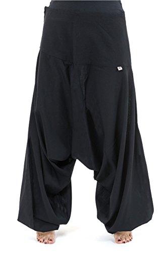 - Hose Harem Bali Baumwolle nepalais Aladin sarwel - Gr. XL, Schwarz - Schwarz