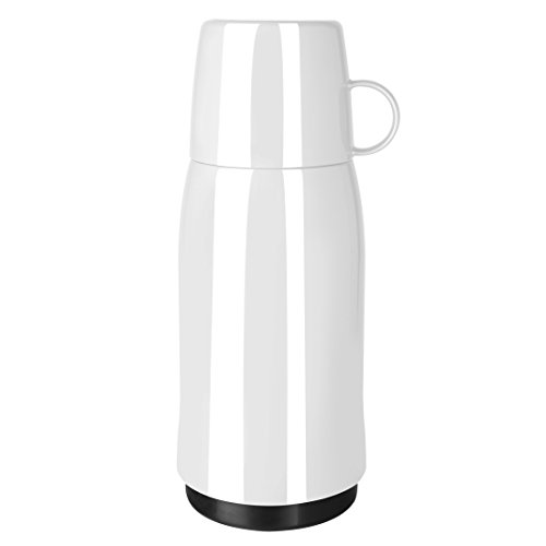 Emsa 502443 Isolierflasche, Mobil genießen, 500 ml, Schraubverschluss, Weiß, Rocket