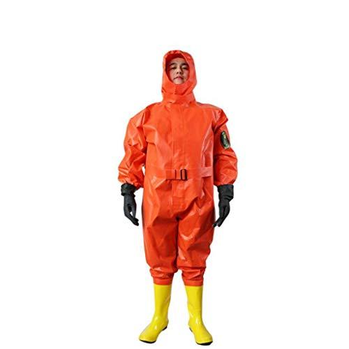 CFF IT Indumenti protettivi chimici con Cappuccio Abbigliamento Solare Protettivo ammoniacale Anti-ammoniaca alcali Chiaro Semi-Chiuso con Cappuccio (Size : 44)