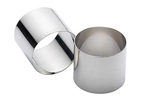 KitchenCraft Extra Deep Stainless Steel Cooking Rings, 7 x 6 cm (Set of 2)