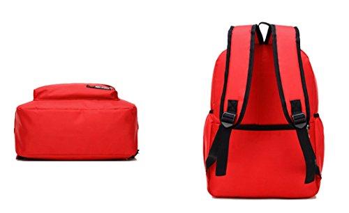 Nette Buch-Taschen für Schulmädchen-Jungen-jugendlich Schulrucksack-hohe Kapazität und Qualität ( Farbe : Orange L ) Red M