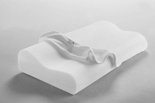 Dormisette Q995, Almohada para el apoyo del cuello viscoelástica y lavable, transpirable,...
