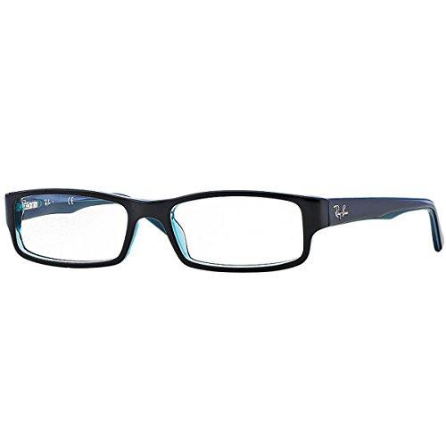 Ray Ban Brillengestell RX5246 5092 52-16 schwarz/türkis