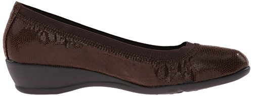Hush Womens Dark Brown Flat Rogan Puppies Soft Style qpHA1A