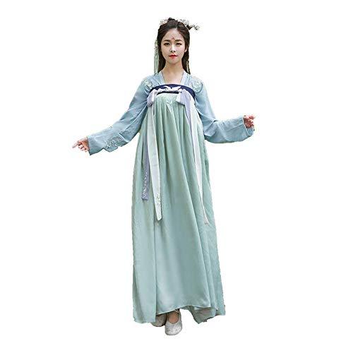 Susichou Traditionelle chinesische Kleidung, Fliegender Kran, Stickerei, Brust, Rock, Kostüm, Leistungskleidung (L)