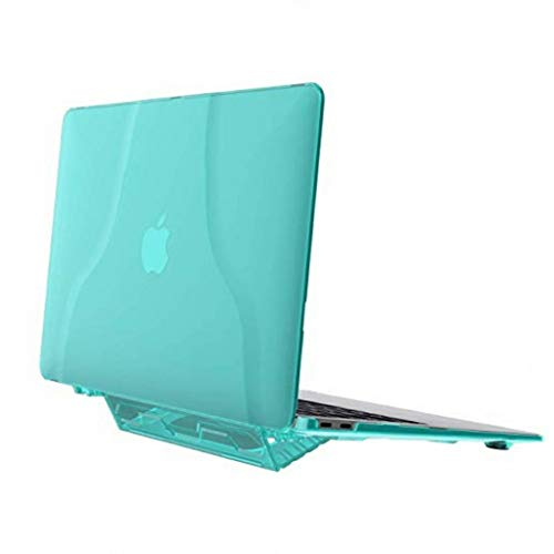 3C-LIFE Macbook 2017 Air13.3(A1369 A1466) 3-In-1 Tough Rubberized Macbook Cover, Rugged Slim Shockproof/Scratchproof Hard Shell Case with Kickstand/Handhold (Green) 3 Hard Case Travel Cover