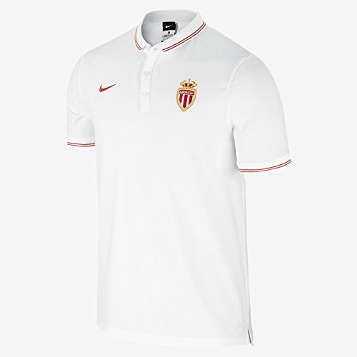 2014-2015 Monaco Nike Authentic League Polo Shirt (White)