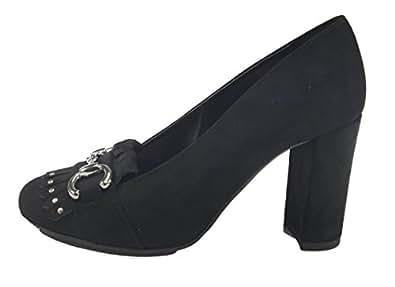2d04bb381 Scarpe donna decolte' moda/casual/elegante in Camoscio MADE IN ITALY 1723 (