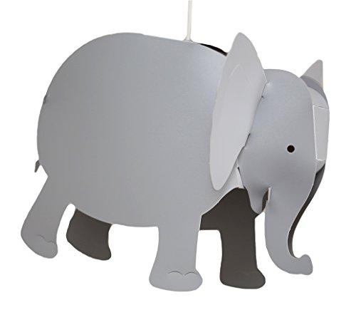 R & M Coudert de los niños lámpara colgante de elefante, color gris ceniza