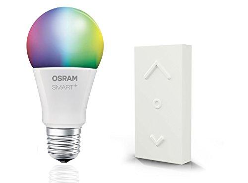 Osram Smart+ ZigBee RGB LED Lampe E27, mit Fernbedienung, mit Schalter, warmweiß bis tageslicht, dimmbar, Alexa kompatibel (Programmierbare Sicherheits-licht-schalter)