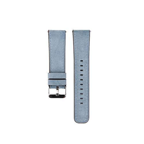 Austauschbares Lederarmband für Fitbit Versa/Versa Lite Ultra-dünnes Männer Frau Premium-Lederarmband für Damen Uhrarmband Wuqy