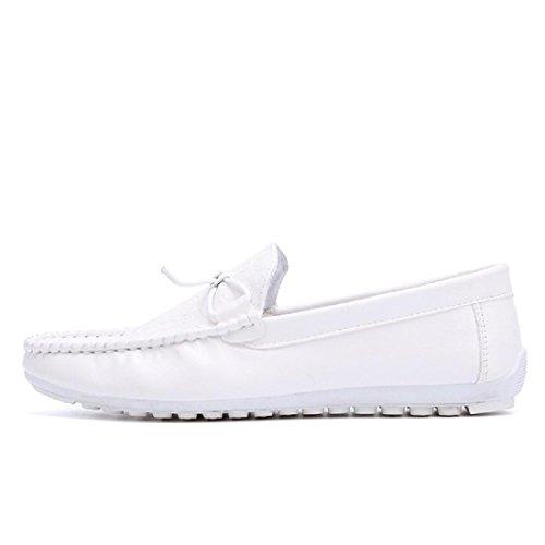 Herren Freizeitschuhe Atmungsaktiv Mode Lazy Schuhe Lässige Schuhe White