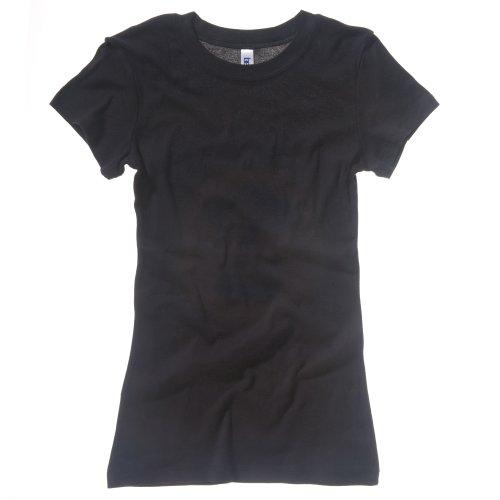 Bella + Canvas Damen T-Shirt, Kurzarm, Rundhalsausschnitt Weiß
