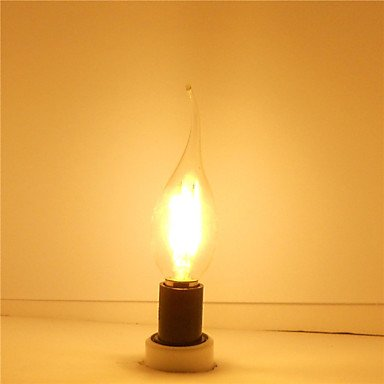 FDH 6W E12 Luces de velas LED CA35 6 COB 600 lm blanco cálido regulable 110-130 V CA 1 PC