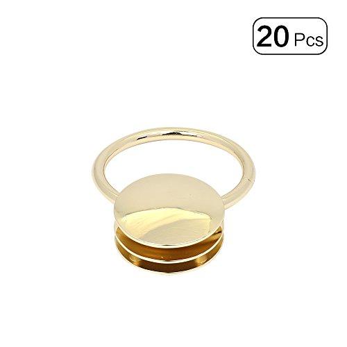 Anjing Rund Verschluss für Tasche Lock mit Ring, Geldbörse LOCK Leichte Gold Ton 20Sets - Gold-ton-hardware Lock