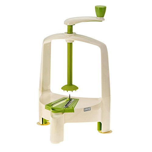 Lurch Spiralo Spiralschneider Gemüsespaghettischneider 3 Einsätze, Kunststoff/Edelstahl, creme grün