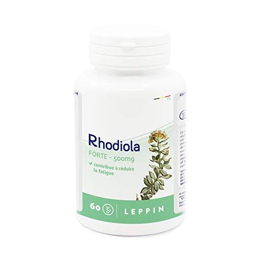 LEPPIN - Rhodiola Forte 500mg | Stress & Energiemangel | Unterstützt Speicher | Natürliches Nahrungsergänzungsmittel -