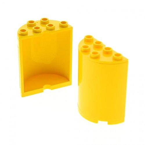 Wars Star Mauer Lego (2 x Lego System Zylinder gelb 2x4x4 halb rund Panele Stein Ufo Wand Mauer Set Star Wars 8037 8250 8299 3368 6218 20430 6259)