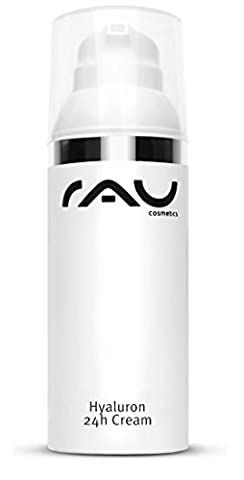 RAU Hyaluron 24h Cream 50 ml - Anti-Wrinkle Day and Night Cream - with Hyaluronic Acid, Avocado Oil, Fruit Acid and Shea Butter - Moisturising Anti-Ageing Treatment for dry, sensitive and mature