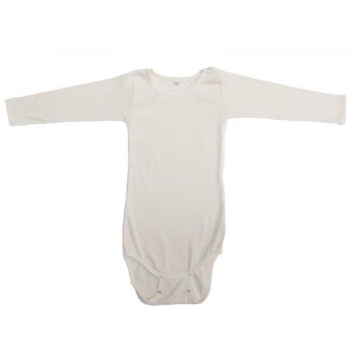 IObio-body manica lunga in lana e seta biologica tg 74/80