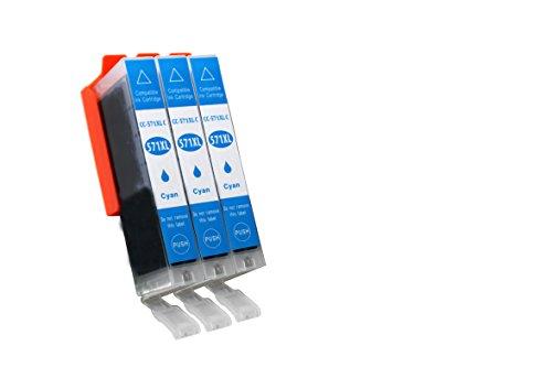 Patronen für Ihren Canon Pixma TS 8050 - Sie erhalten: 3X Cyan - 100{afca3b87025452e2007e4d11f2a87cd9bc09c9d3a3010e8d142df76a44a33a79} kompatibel, Chip Versehen