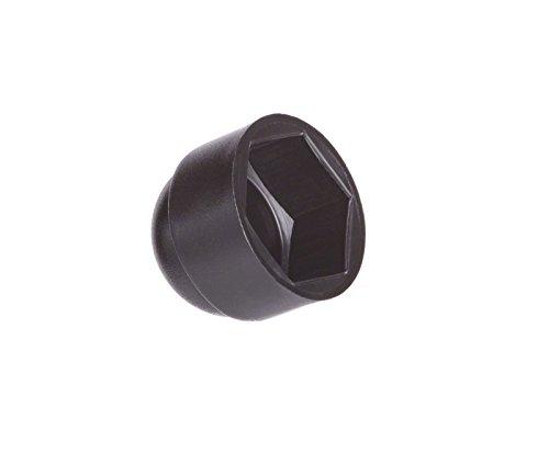 10 Stck. Schutzkappen für Schrauben M14 (für Schlüssel 22) Schwarz Abdeckkappen Blindstopfen Endkappen