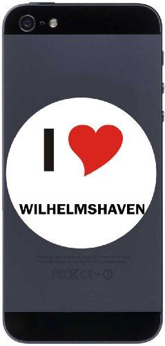 I Love Aufkleber 7 cm mit Stadtname WILHELMSHAVEN - Decal - Sticker - Handy - Handyskin - Handyaufkleber - Telefonaufkleber / JDM / Die cut / OEM