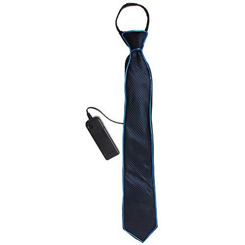 LED leuchten Krawatten Kostüm Zubehör für neue Jahre Rave Party leuchten Krawatte (Blau)